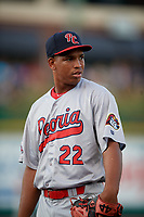 Peoria Chiefs pitcher Rodard Avelino (22) during a Midwest League game against the Fort Wayne TinCaps on July 17, 2019 at Parkview Field in Fort Wayne, Indiana.  Fort Wayne defeated Peoria 6-2.  (Mike Janes/Four Seam Images)