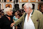 LINA WERTMULLER CON PAOLO VILLAGGIO<br /> PREMIO CONDOTTI PALAZZO TORLONIA ROMA 2009