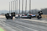 Extreme Pro Stock driver Dean Goforth (151) in his 2010 Pontiac GXP makes a qualifying pass during the PDRA drag races which were held at the Texas Motorplex in Ennis, Texas.