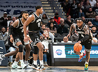 WASHINGTON, DC - FEBRUARY 19: Maliek White #4 of Providence starts an attack during a game between Providence and Georgetown at Capital One Arena on February 19, 2020 in Washington, DC.