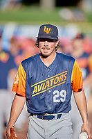 Las Vegas Aviators starting pitcher Parker Dunshee (29) before the game against the Salt Lake Bees at Smith's Ballpark on July 20, 2019 in Salt Lake City, Utah. The Aviators defeated the Bees 8-5. (Stephen Smith/Four Seam Images)