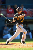 Bethune-Cookman Wildcats right fielder Nathan Bond (21) at bat during a game against the Wisconsin-Milwaukee Panthers on February 26, 2016 at Chain of Lakes Stadium in Winter Haven, Florida.  Wisconsin-Milwaukee defeated Bethune-Cookman 11-0.  (Mike Janes/Four Seam Images)