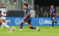 WIENER NEUSTADT, AUSTRIA - NOVEMBER 16: Weston McKennie #8 of the United States moves forward with the ball during a game between Panama and USMNT at Stadion Wiener Neustadt on November 16, 2020 in Wiener Neustadt, Austria.
