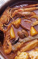 """Europe/Espagne/Catalogne/Barcelone : Restaurant """"La Govina"""" - Service d'El Suquet - Ragoût du pêcheur"""