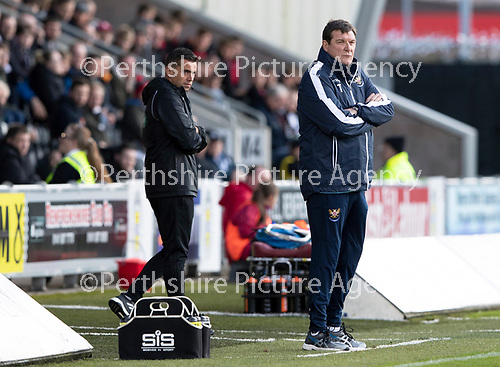 St Mirren v St Johnstone…19.10.19   St Mirren Park   SPFL<br />Tommy Wright watches the game<br />Picture by Graeme Hart.<br />Copyright Perthshire Picture Agency<br />Tel: 01738 623350  Mobile: 07990 594431