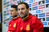 Spainsh Aritz Aduriz and Juan Mata during the press conference in the city of football of Las Rozas in Madrid, Spain. November 10, 2016. (ALTERPHOTOS/Rodrigo Jimenez) ///NORTEPHOTO.COM