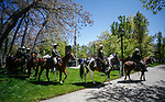 The Carson City Sheriff's Office mounted unit participate in the 22nd annual Nevada Law Enforcement Officers Memorial ceremony in Carson City, Nev., on Thursday, May 2, 2019. <br /> Photo by Cathleen Allison/Nevada Momentum