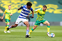 1st May 2021; Carrow Road, Norwich, Norfolk, England, English Football League Championship Football, Norwich versus Reading; Emi Buendia of Norwich City takes on Ovie Ejaria of Reading