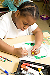 Education Elementary Public Grade 2 student drawing girl at work vertical