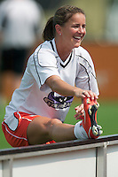 Brandi Chastain of the CyberRays warms up prior to the game. The San Jose CyberRays were defeated by the NY Power 2-1 on 7/05/03 at Mitchel Athletic Complex, Uniondale, NY..