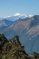 View from Dochu la pass.