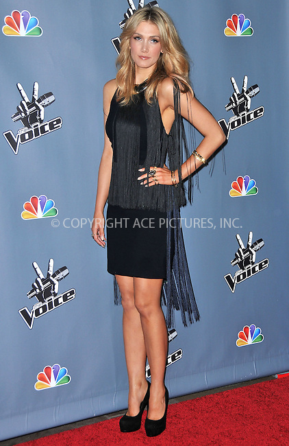 WWW.ACEPIXS.COM....US Sales Only....March 20 2013, LA....Delta Goodrem at 'The Voice' season four premiere held at the TCL Chinese Theatre in Hollywood on March 20 2013 in Los Angeles ....By Line: Famous/ACE Pictures......ACE Pictures, Inc...tel: 646 769 0430..Email: info@acepixs.com..www.acepixs.com