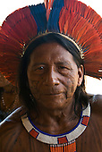 Xingu Indigenous Park, Mato Grosso State, Brazil. Aldeia Tuba Tuba (Yudja). Cacique Kamitai Yudja.