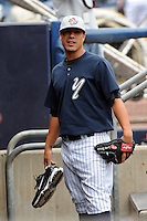 Staten Island Yankees pitcher Manny Barreda (38) during first team workout at Richmond County Bank Ballpark at St. George in Staten Island, NY June 15, 2010.  Photo By Tomasso DeRosa/ Four Seam Images
