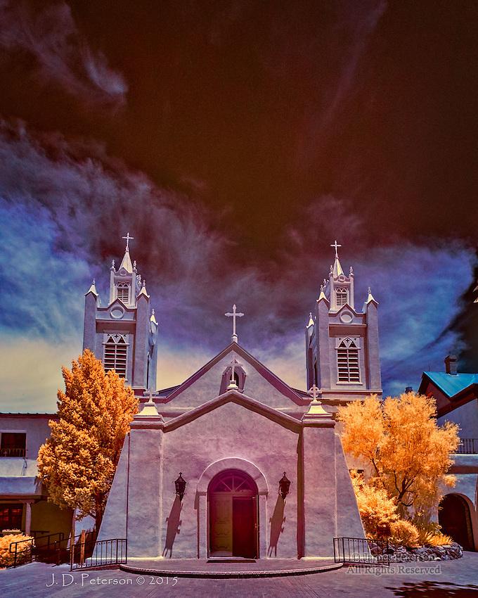 San Felipe de Neri Church, Albuquerque (Infrared)