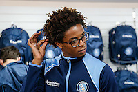 Sido Jombati in the club shop during the 2016/17 Kit Launch of Wycombe Wanderers to the public at Adams Park, High Wycombe, England on 10 July 2016. Photo by David Horn.