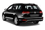 Car pictures of rear three quarter view of 2018 Volkswagen Golf-Variant Comfortline 5 Door Wagon Angular Rear