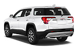 Car pictures of rear three quarter view of 2020 GMC Acadia SLE 5 Door SUV Angular Rear