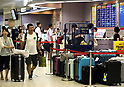 Haneda airport filled with travellers returning home from their annual holiday