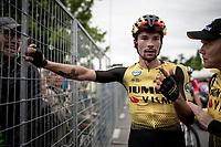 Primoz Roglic (SVK/Jumbo-Visma) post-finish<br /> <br /> Stage 18: Valdaora/Olang to Santa Maria di Sala (222km)<br /> 102nd Giro d'Italia 2019<br /> <br /> ©kramon