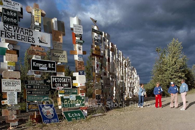 Watson Lake, YT, Yukon Territory, Canada - World Famous Sign Post Forest