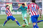 Neymar Santos Jr of Futbol Club Barcelona during the match of Spanish La Liga between Atletico de Madrid and Futbol Club Barcelona at Vicente Calderon Stadium in Madrid, Spain. February 26, 2017. (ALTERPHOTOS)