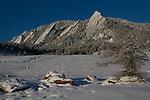 Snow at Chautauqua Park, Boulder, Colorado, USA