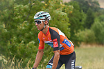 The peloton including race leader Bryan Coquard (FRA) B&B Hotels-Vital Concept/KTM during Stage 2 of the Route d'Occitanie 2020, running 174.5km from Carcassone to Cap Découverte, France. 2nd August 2020. <br /> Picture: Colin Flockton | Cyclefile<br /> <br /> All photos usage must carry mandatory copyright credit (© Cyclefile | Colin Flockton)