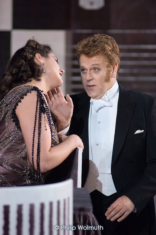 Orla Boylan and Peter Coleman-Wright in a performance of Arabella, by Richard Strauss, at Garsington Manor, Oxfordshire.