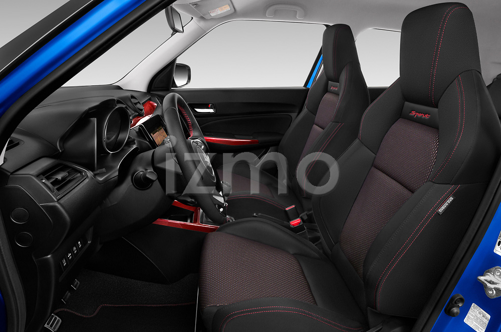 Front seat view of a 2018 Suzuki Swift Sport Base 5 Door Hatchback front seat car photos