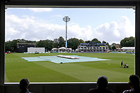 The covers are on the pitch as rain delays play during Kent CCC vs Essex CCC, Specsavers County Championship Division 1 Cricket at the St Lawrence Ground on 19th August 2019