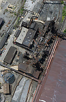 aerial photograph Cleveland Ohio industrial area steel mill