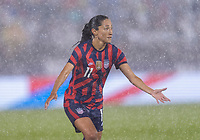 EAST HARTFORD, CT - JULY 1: Christen Press #11 of the USWNT calls for the ball during a game between Mexico and USWNT at Rentschler Field on July 1, 2021 in East Hartford, Connecticut.