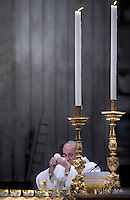 "Pope Francis ""feast of candles"" during Holy Mass for the Solemnity of the presentation of Our Lord at St Peter's basilica at the Vatican. on Febraury 2, 2017"