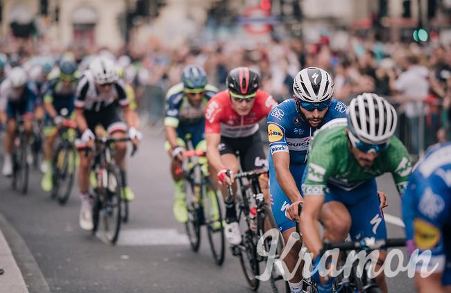Fernando Gaviria (COL/Quick-Step Floors)<br /> <br /> Stage 8: London to London (77km)<br /> 15th Ovo Energy Tour of Britain 2018