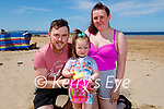 The Whyte family at Ballybunion beach on Sunday, l to r: Lee, Chloe and Scarlett Whyte.