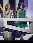 Spanish actress Eva Isanta (l) and Macarena Gomez during the awards gala '40 Principales 2012'..(Alterphotos/Acero)