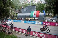 Caleb Ewan (AUS/Lotto-Soudal) passing some torpedo's & a submarine<br /> <br /> 104th Giro d'Italia 2021 (2.UWT)<br /> Stage 1 (ITT) from Turin to Turin (8.6 km)<br /> <br /> ©kramon