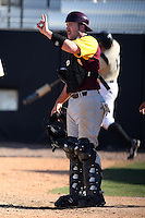 March 7, 2010:  Catcher Dale Cornstubble (6) of the Central Michigan Chippewas during game at Jay Bergman Field in Orlando, FL.  Central Michigan defeated Central Florida by the score of 7-4.  Photo By Mike Janes/Four Seam Images