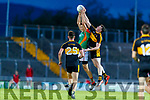 Colin McGillycuddy, Mid Kerry in action against Alan O'Sullivan, Dr. Crokes during the Kerry County Senior Football Championship Semi-Final match between Mid Kerry and Dr Crokes at Austin Stack Park in Tralee, Kerry.