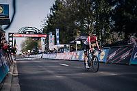 race winner Tim Wellens (BEL/Lotto-Soudal) rolling in<br /> <br /> 58th De Brabantse Pijl 2018 (1.HC)<br /> 1 Day Race: Leuven - Overijse (BEL/202km)