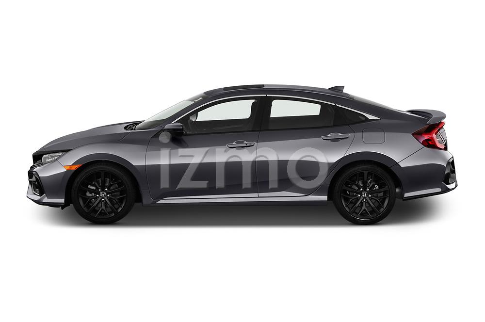 Car Driver side profile view of a 2020 Honda Civic-Si-Sedan Si 4 Door Sedan Side View