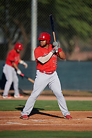 AZL Angels Raider Uceta (75) at bat during an Arizona League game against the AZL D-backs on July 20, 2019 at Salt River Fields at Talking Stick in Scottsdale, Arizona. The AZL Angels defeated the AZL D-backs 11-4. (Zachary Lucy/Four Seam Images)