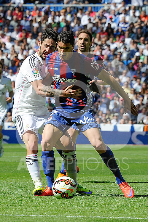 Real Madrid´s  and Eibar´s Ander Capa during 2014-15 La Liga match between Real Madrid and Eibar at Santiago Bernabeu stadium in Madrid, Spain. April 11, 2015. (ALTERPHOTOS/Luis Fernandez)