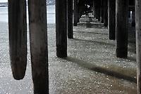 Impressionen aus Larvik - im Bild: eisiges Wasser unter dem Bootsanleger am Strand.  Foto: Norman Rembarz..Jegliche kommerzielle Nutzung ist honorar- und mehrwertsteuerpflichtig! Persönlichkeitsrechte sind zu wahren. Es wird keine Haftung übernommen bei Verletzung von Rechten Dritter. Autoren-Nennung gem. §13 UrhGes. wird verlangt. Weitergabe an Dritte nur nach  vorheriger Absprache. Online Nutzung ist separat kostenpflichtig.