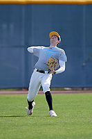 Trevor Meisner during the Under Armour All-America Pre-Season Tournament, powered by Baseball Factory, on January 19, 2019 at Sloan Park in Mesa, Arizona.  Trevor Meisner is an outfielder / right handed pitcher from Las Vegas, Nevada who attends Bishop Gorman High School.  (Mike Janes/Four Seam Images)