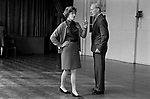 Battersea, London. 1970<br /> Darby and Joan Club. A blind and partially sighted afternoon dance class for senior citizens at the Battersea Institute.