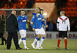 Bilel Mohsni has words with Airdrie manager Gary Bollan