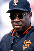 San Francisco Giants Manager Dusty Baker at Dodger Stadium in Los Angeles,California during the 1996 season. (Larry Goren/Four Seam Images)