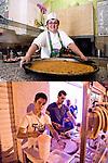 SGUARDI ORGOGLIOSI<br /> La farinata di Daniela Angheluta della pizzeria Il Cavaliere<br /> Le crepes di Adam Graine<br /> <br /> Farinata del sole, sole in farinata<br /> sorride la pizzaiola tutta inamidata<br /> orgogliosa<br /> delle teglia e di sé.<br /> L'orchidea, <br /> smessa la sicumera<br /> s'inchina alla cucina,<br /> si piega <br /> e se ne sta lassù<br /> in un angolino.<br /> <br /> Guarda in macchina<br /> l'adolescente di bellezza rara.<br /> Rifinisce il lavoro<br /> mentre frigge di vita<br /> da arrivare.
